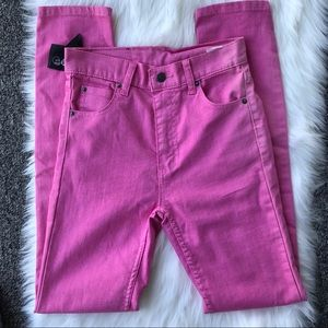 Cheap Monday second skinny  pink high rise jeans